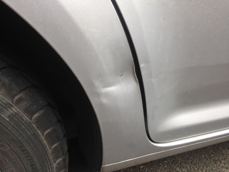 Dent damage in North London