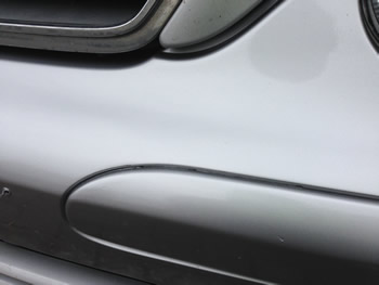 Crack on Mercedes Bumper Repair Hitchin