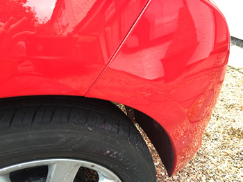 Wheel arch scuff repair Bishops Stortford